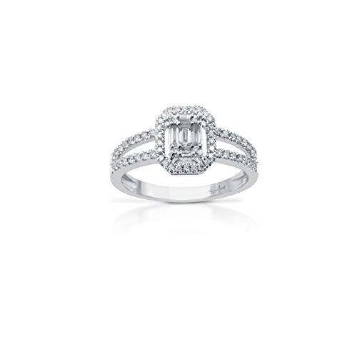 Fogi Anello by Carità in Oro Bianco 18kt e Diamanti certificati di Prima qualità