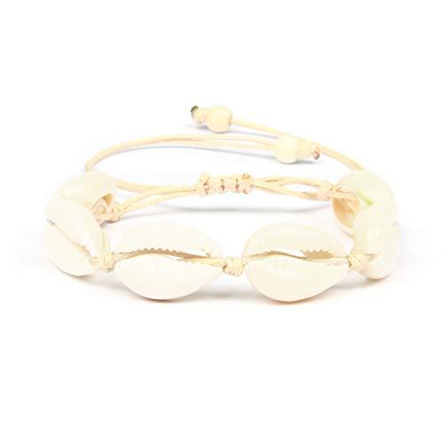 Good.Designs ® Damen Muschel Kette (Natur) Shell Armkette mit echten Muscheln Muschelarmband Muschelschmuck echtemuscheln naturmuscheln