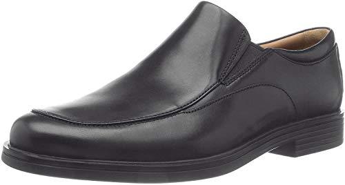 Clarks Un Aldric Walk Wide Fit Mens Slip On Shoes 9 UK/ 43 EU Schwarz