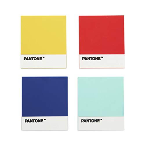 Balvi Sottobicchieri Pantone sottobicchieri Antiscivolo Set di 4 Disegno Originale Marca Pantone Amanti del Design Silicone/plastica 0,45x10,2x9