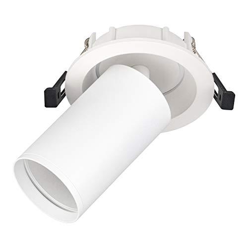 POPP® Aplique Empotrable Orientable GU10 Blanco y Negro 2 M