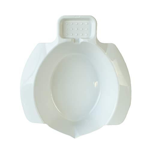 Queraltó - Bidet portatile da agganciare al WC, bianco, 9 x 25 x 5 cm