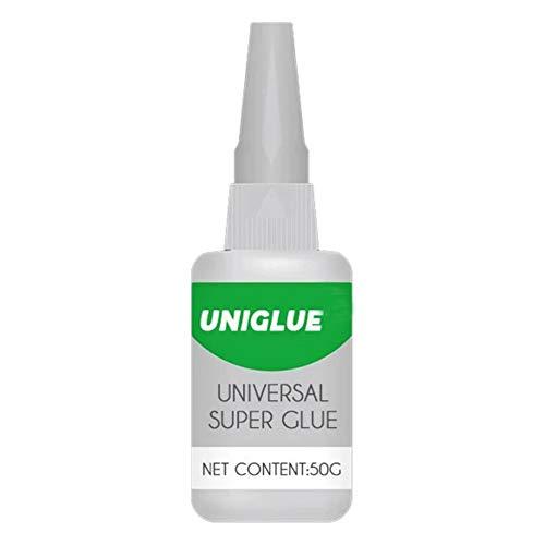 Premium Uniglue Universal Super Glue pegamento plástico fuerte para resina cerámica metal vidrio multiusos transparente 50g
