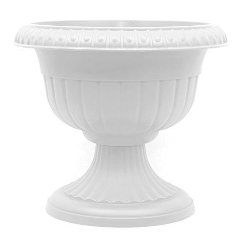 Pflanzkübel Blumenspindel Pflanzschale Roma ∅37cm Weiß