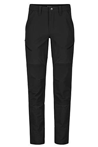 Marmot Herren Trekkinghose Softshell Funktionshose, Wasserabweisend Limantour Pant, Black, 30, 42250