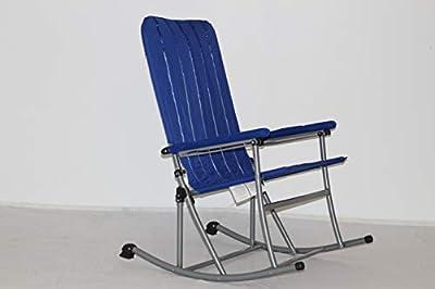 Premium Patio/Outdoor Folding Rocking Chair - Blue