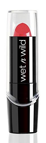 Wet n Wild - Silk Finish Lipstick - Barra de Labios con Color Intenso, Cremoso y Suave - con Aloe Vera, Aceite de Macadamia y Vitaminas A y E - Hot Paris Pink - 1 Unidad