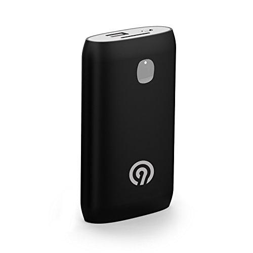 NINETEC NT-588 8.400mAh Power Bank mit Soft-Touch Oberfläche silber - externer Akku für Smartphone & Tablet-PC