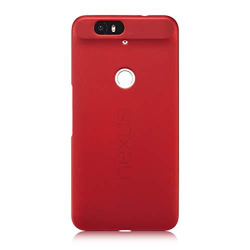 Nexus 6P Case,Vfunn [Armor Series] Elegant Thin Fit Hard Back Case Cover for Huawei Google Nexus 6P w Stylus Pen (Red)