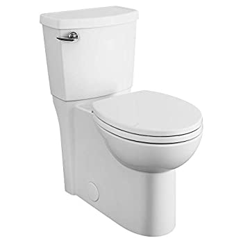 American Standard 2988101.020 Cadet 3 FloWise 2-Piece 1.28 GPF Single Flush Right Height Round Front Toilet with Concealed Trapway White