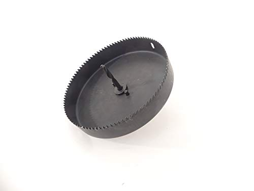 Hole Saw, 6 Inch, Carbon Steel, for Use on Drywall and Plywood, 1 Inch Max Depth, Cut Holes for High Hat Light Fixtures, Corn Hole, Game Boards, Tech Team