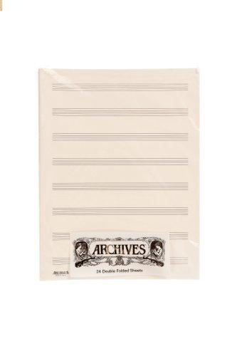 D'Addario D8S Doppelseitige Notenblätter (8 Notenbalken, 24 Blatt)