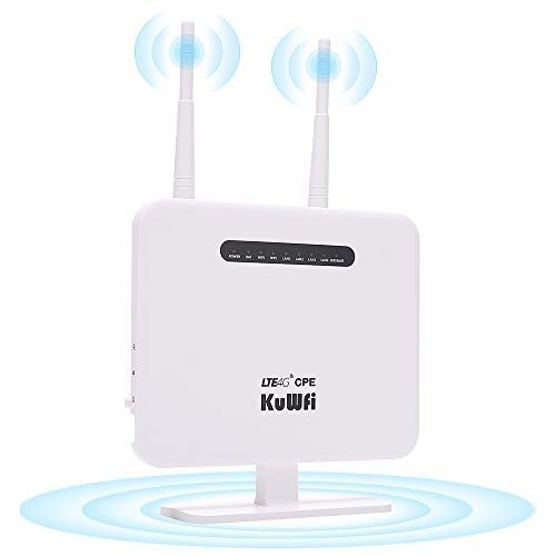 KuWFi 4G LTE Mobile WiFi Hotspot Unlocked Travel Partner Wireless 4G Router with SIM Card Slot...