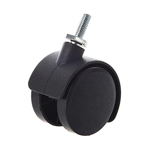 ZXVC Black 6mm Stem roscado 40 mm de Doble Rueda giratoria. 605