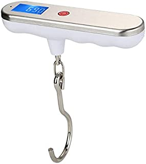 50kg/10g LCD Digital Travel Luggage Scale Suitcase Electronic Hand Held Hook Hanging Fishing Scale Backlight Balance Weighing