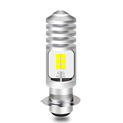 Ammtoo P15D LEDヘッドライト PH7 バイク用 LEDバルブ Hi/Lo切替 DC9V-30V 8W 1400lm ライトバルブ ホワイ...