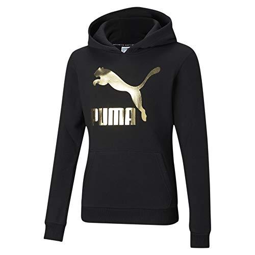 PUMA Classics Logo Jugend Hoodie Puma Black-foil 140