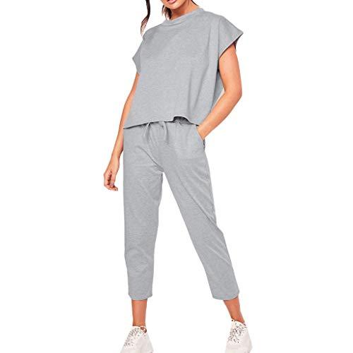 TWIFER Damen Summer 2Pcs Trainingsanzüge Set Sport Loungewear Casual Tops Hosenanzug