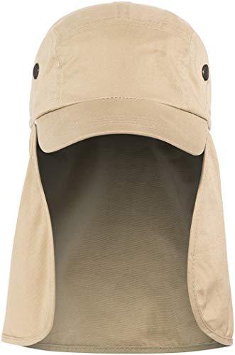 Basic Nature Uni Legionärskappe Nackenschutz Baseballkappe, braun, XL