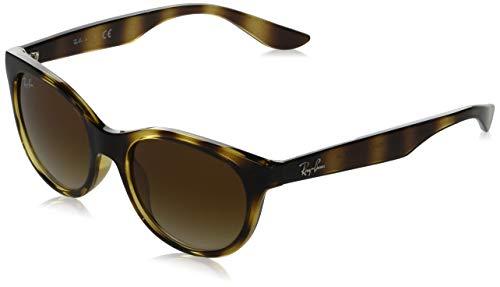 Ray-Ban Junior Kids' RJ9068S Butterfly Sunglasses, Havana/Brown Gradient, 47 mm