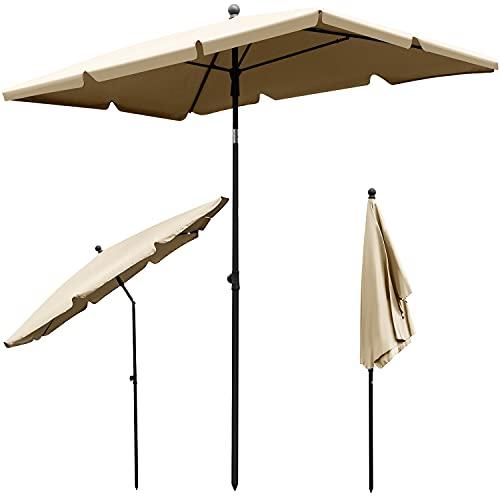 MT MALATEC Balkonschirm Sonnenschirm für den Balkon Garten 130x200 cm rechteckiger 12153