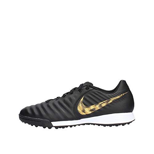 Nike Herren LegendX 7 Academy TF Fußballschuhe, Schwarz (Black/MTLC Vivid Gold 077), 40.5 EU