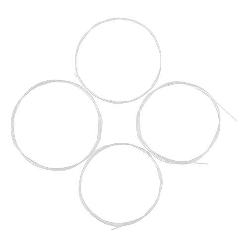 Muslady Corde Ukulele Materiale di nylon bianca 4pcs / set Bianco