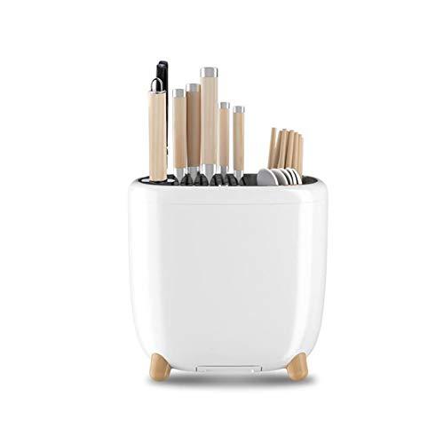 HYQQ Portacuchillos Universal, Portacuchillos de Cocina Multifuncional, Almacenamiento de Cubiertos con escurridor, Secado, Fácil de Limpiar (Cuchillos no incluidos)