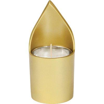 Memorial Anodize Aluminium Kerzenhalter-Gold für Ner Neshama Yahrzeit Memorial-Dose () für jüdischen Erinnerungsstätte (Etui, inkl. Ersatzminen für viele eine Kerze enthalten)