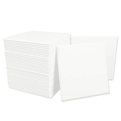 BUBOS Akustikschaumstoff Platten Schall Dämmung 12 Stück für Tonstudio, Büro, Arbeitszimmer, Partykeller, Heimstudio (30x30x0.9cm) Weiß