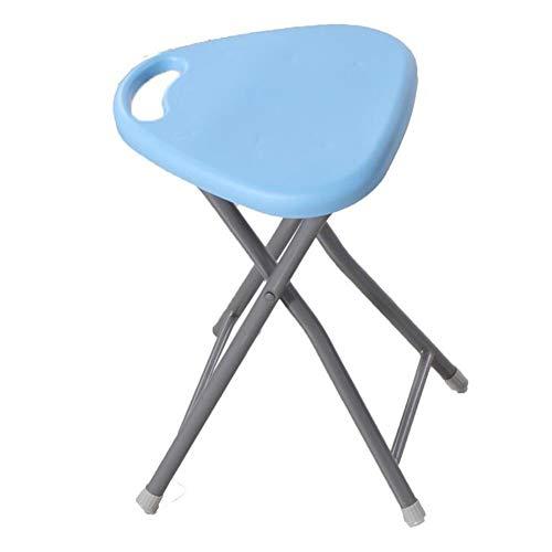 QIDI Chaise Tabourets Plastique Métal Simple Moderne Pliable Moderne Plus Épais Ménage Adulte - Taille: 30 * 30 * 45.5cm - Multicolore en Option - Deux Charges (Couleur : Sky Blue)