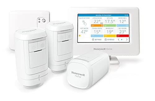 Honeywell Home THR99C3013 Kit de termostato Inteligente evohome WiFi y módulo relé de Caldera, Ahorra energía y Dinero, Blanco