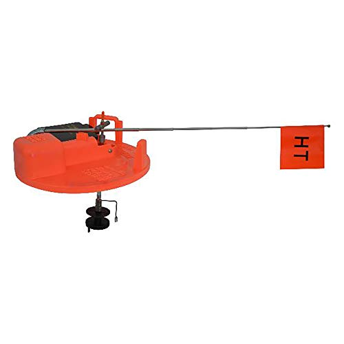 HT Enterprise PTE-200 Polar Therm Extreme Tip-Up W/ 200 ' Spool, Orange - Built in Tackle Box