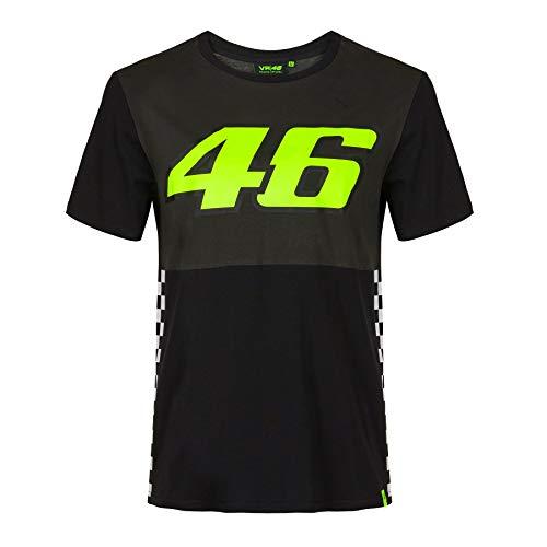 Valentino Rossi T-Shirt VR46 MotoGP Rennen Der Arzt Schwarz Offiziell 2020
