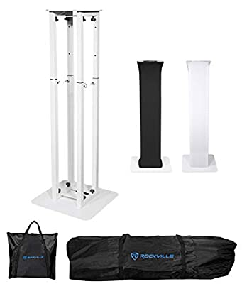 Rockville Totem Moving Head Light Stand+Black+White Scrims+Carry Bags (RTP32W) from Rockville