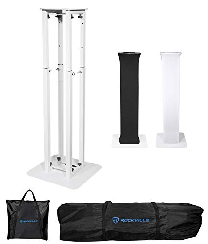 Rockville Totem Moving Head Light Stand+Black+White Scrims+Carry Bags (RTP32W)