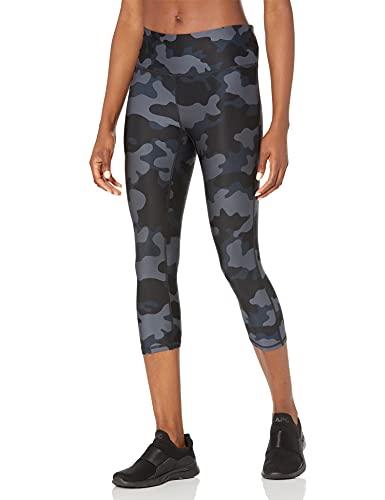 Amazon Essentials Women's Performance Mid-Rise Capri Active Legging, Grey camo, Medium