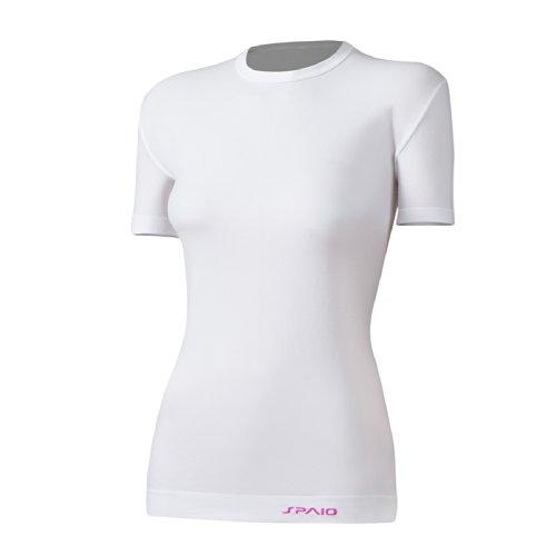 SPAIO Relieve T-shirt pour femme Coupe près du corps légèrement anti-odeurs Blanc S/M