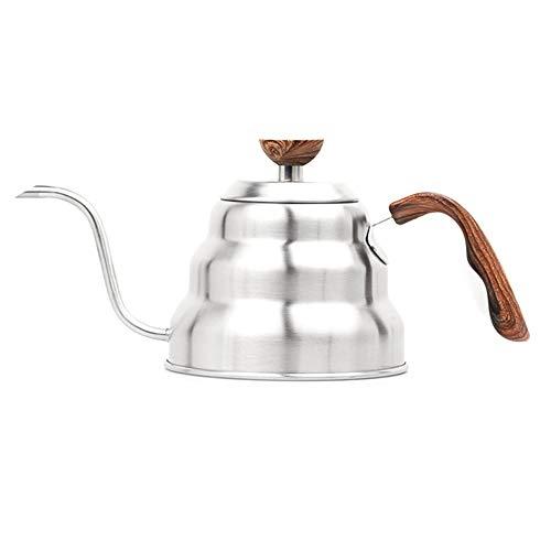 Baalaa Tetera de Cuello de Cisne de Goteo de Café de Acero Inoxidable de 1 L, Tetera, Botella de Café, Hervidor, Accesorios de Cocina
