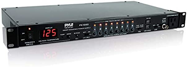 Stage & Studio Power Sequence Conditioner - Pro Audio AV Digital Power Sequencer Controller with Voltage & Temperature Readout, Rack Mount (US Power Outlets)