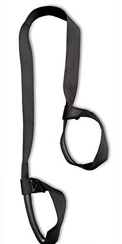 Clever Yoga Mat Strap Sling Adjustable Made with The Best, Durable Cotton - Comes with Our Special Namaste (Black)