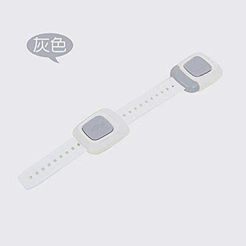 Lock Pad Lock Multi-Functie Kast Lock Kinderveilige Bescherming tegen Baby Safe Lade Koelkast Beveiligingsblok Hangslot Grijs