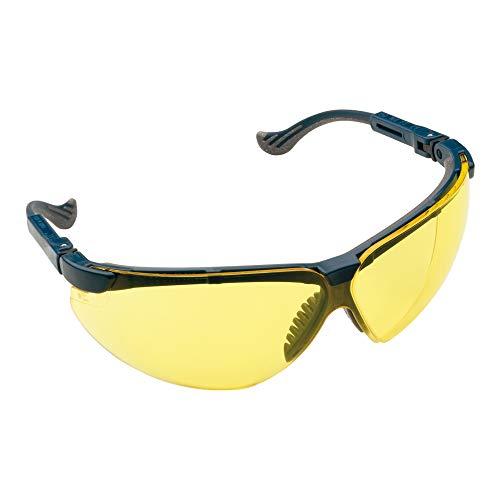 Honeywell 201112 XC Schutzbrille, HDL Gelb Sichtscheibe, Blau Rahmen, 1 Stück