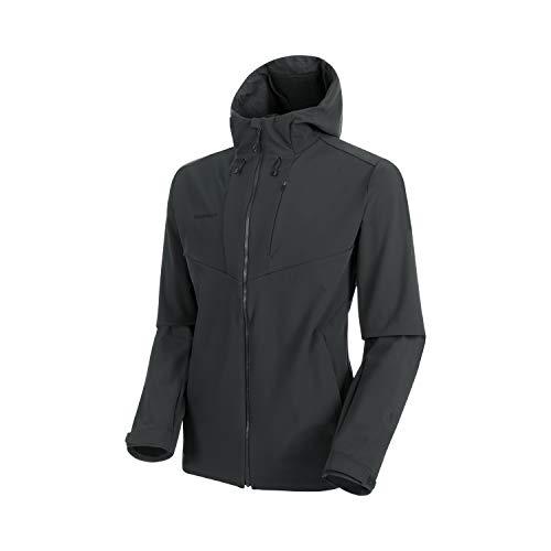 Mammut Herren Softshell-jacke Sapuen Hooded, grau, XL
