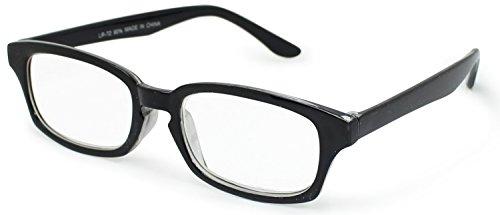デューク 老眼鏡 +2.5 度数 プラスチックフレーム ソフトケース付き ブラック LR-72+2.50