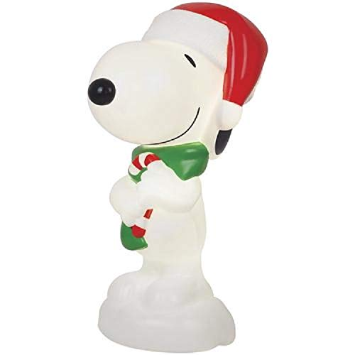 Home Collection Peanuts Snoopy Blow Mold Outdoor Light Up Christmas Decoration Yard Lawn Garden Sculpture Seasonal Display