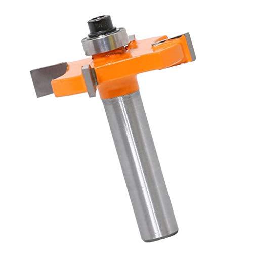 Baoblaze 4-Wing Kerf Cutter 8mm Shank Slotting Cutter Router Bit Woodworking