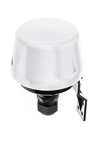 HUBER Twilight 1 Interruptor crepuscular de Exterior, Sensor crepuscular Ajustable [5-50 Lux], con protección IP44 I Interruptor crepuscular de Superficie 230V