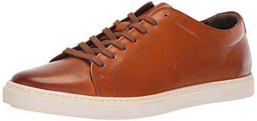 Allen Edmonds Men's Canal Court Sneaker, Walnut/White, 10 Wide