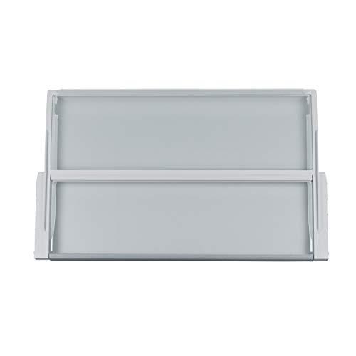 Bosch Siemens 743197 00743197 ORIGINAL Glasplatte Abdeckplatte Gemüsefachabdeckscheibe Scheibe zweigeteilt 443x430mm Kühlschrank Kühlautomat Kühlgerät auch Neff Balay Constructa